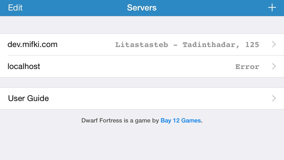 Server list and game list – mifki